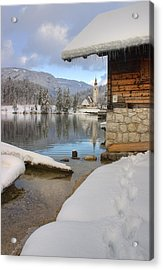 Acrylic Print featuring the photograph Alpine Winter Clarity by Ian Middleton