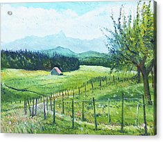 Alps From Geneva Switzerland 2016 Acrylic Print by Enver Larney