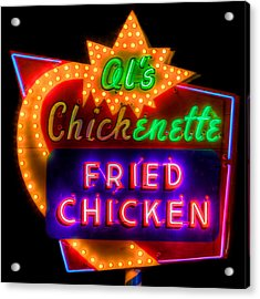 Al's Chickenette Acrylic Print by Thomas Zimmerman