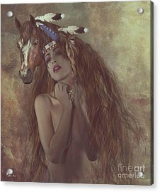 Alsoomse And Her War Horse Acrylic Print