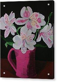 Alstroemeria In Mug Acrylic Print