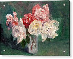 Altadena Roses Acrylic Print by Athena  Mantle