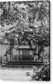 Altar In The Garden Acrylic Print