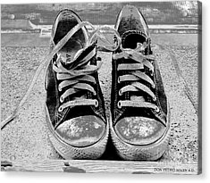 Old Sneakers. Acrylic Print by Don Pedro De Gracia