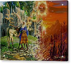 Acrylic Print featuring the painting Alter Terrain by Steve Roberts