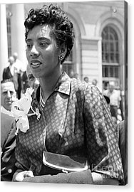 Althea Gibson, First African American Woman To Win A Grand Slam Title. 1957 Acrylic Print