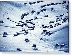 Altitude Village Acrylic Print by Svetlana Sewell