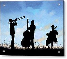 Altro Trio Acrylic Print by Guido Borelli