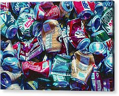 Aluminum Cans - Recyclables Acrylic Print by Steve Ohlsen