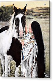 Always By My Side Acrylic Print by Andrew Read