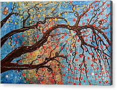 Acrylic Print featuring the mixed media Always Dream by Natalie Briney