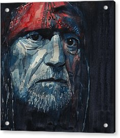 Always On My Mind - Willie Nelson  Acrylic Print by Paul Lovering