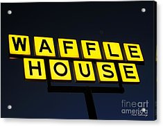 Always Open Waffle House Classic Signage Art  Acrylic Print