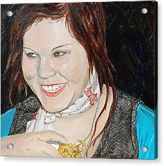 Alyssa Smiles Acrylic Print by Kevin Callahan
