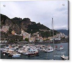 Amalfi Coast Acrylic Print by Judy Kirouac