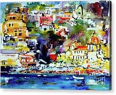 Amalfi Coast Positano Summer Vibrations Acrylic Print