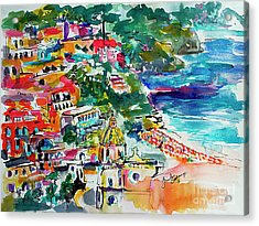 Amalfi Coast Positano Travel Art Acrylic Print