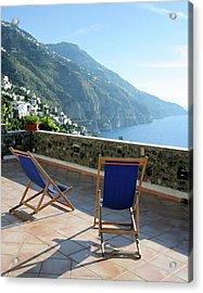 Amalfi Coast View From Villino Blu Acrylic Print