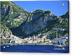 Amalfi Cove Acrylic Print