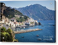 Acrylic Print featuring the photograph Amalfi Harbor by Scott Kemper