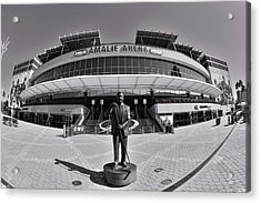 Amalie Arena Black And White Acrylic Print
