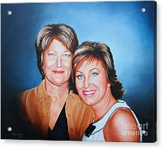 Acrylic Print featuring the painting Amanda And Mom by Mike Ivey