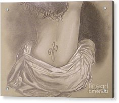 Amanda's Tattoo Acrylic Print by Crispin  Delgado