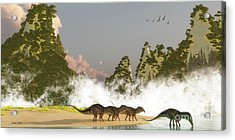 Amargasaurus Dinosaurs Acrylic Print