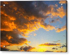 Amarillo Golden Sunset Acrylic Print by Jeff Steed