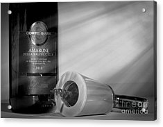 Amarone Wine And Ivory Corkscrew Acrylic Print by Stefano Senise