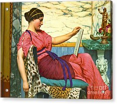Amateur Artist 1915 Acrylic Print by Padre Art