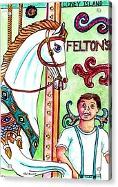 Amazed At The Merry-go-round At Feltons In Coney Island Acrylic Print