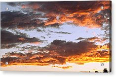 Glorious Clouds At Sunset Acrylic Print