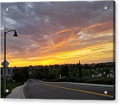 Colorful Sunset In Mission Viejo Acrylic Print