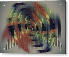 Amazing Grace Digital Artwork Acrylic Print by Georgeta Blanaru