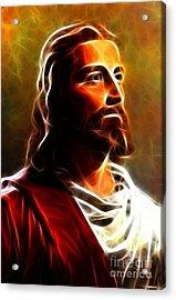 Amazing Jesus Portrait Acrylic Print by Pamela Johnson