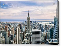 Amazing Manhattan Acrylic Print by Az Jackson