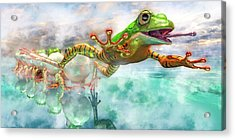Amazon Frog Mighty Jumper Acrylic Print
