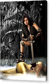 Amazon Warrior Acrylic Print by George Cabig
