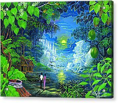 Acrylic Print featuring the painting Amazonica Romantica by Pablo Amaringo