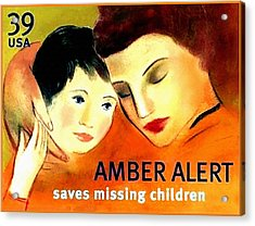 Amber Alert Acrylic Print by Lanjee Chee