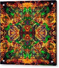 Amber Burst. Acrylic Print