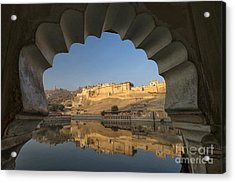Acrylic Print featuring the photograph Amber Fort Reflection by Yew Kwang
