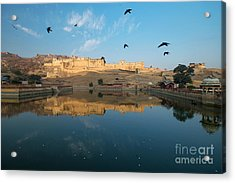 Acrylic Print featuring the photograph Amber Fort  by Yew Kwang