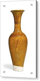 Amber-glazed Pottery Vase Acrylic Print