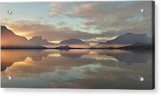 Acrylic Print featuring the digital art Salmon Lake Sunrise by Mark Greenberg