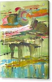 Amber Waves Acrylic Print by Yael Eylat-Tanaka
