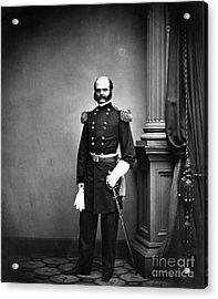Ambrose Burnside, Union General Acrylic Print by LOC/Photo Researchers