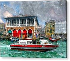 Acrylic Print featuring the photograph Ambulanza. Venezia by Juan Carlos Ferro Duque