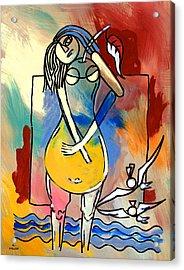 Ameeba- Pear Woman Acrylic Print